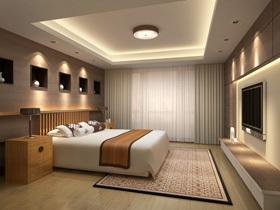欧普开启睡眠模式 中式卧室温暖革命