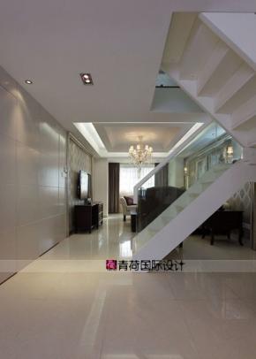共12张图评论( 0) 楼梯挑高户型装修复式装修130平米装修 美式古典图片