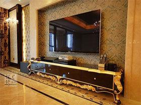 欧式低调奢华美 高端大气的金色之家