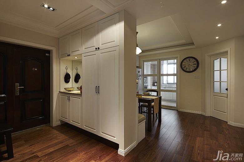 美式风格三居室140平米以上玄关隔断玄关柜图片