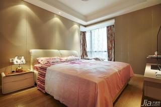 现代简约风格四房140平米以上卧室飘窗床头柜效果图