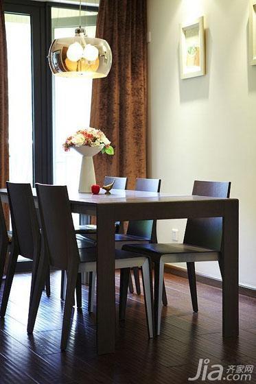 简约风格三居室130平米餐厅餐桌图片
