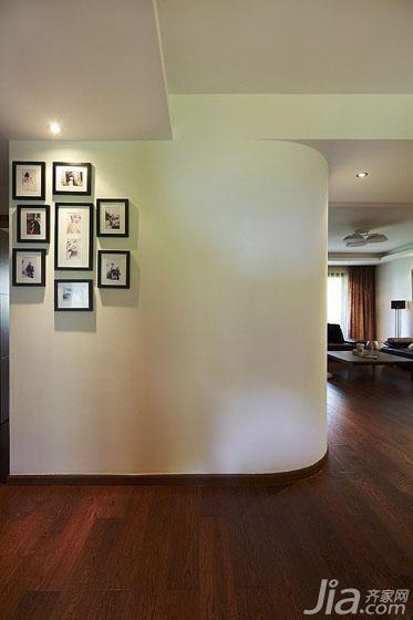 简约风格三居室130平米过道设计