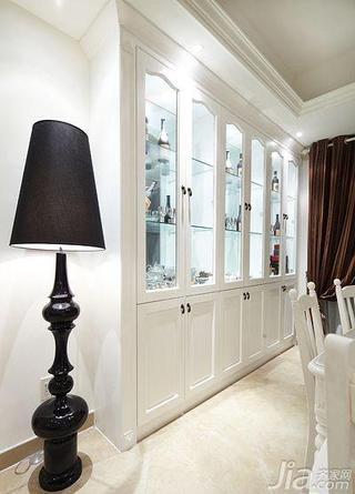 简欧风格二居室白色120平米餐边柜图片