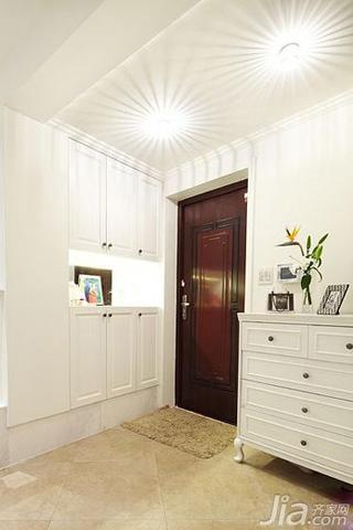 简欧风格二居室白色120平米玄关玄关柜效果图