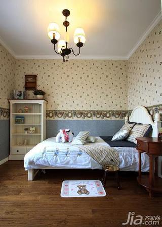 田园风格三居室120平米儿童房儿童床图片