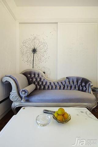 现代简约风格一居室60平米沙发背景墙沙发效果图