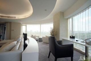 北欧风格20万以上140平米以上阳台窗帘图片