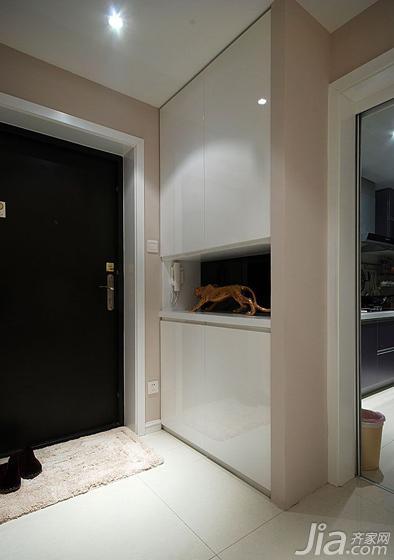现代简约风格二居室90平米玄关玄关柜效果图
