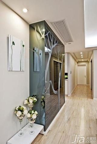 现代简约风格四房140平米以上背景墙地板效果图