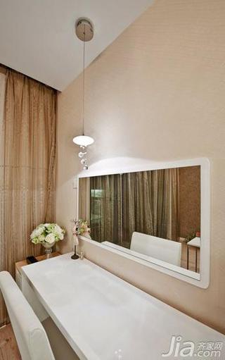现代简约风格四房140平米以上卧室背景墙梳妆台效果图
