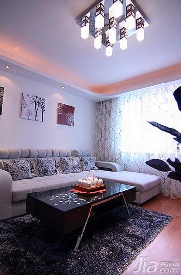 宜家风格二居室90平米沙发效果图