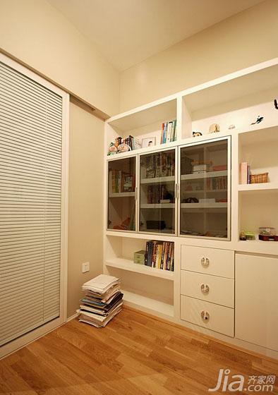 现代简约风格三居室20万以上书房书柜图片-您正在访问第5页 装修效果图片