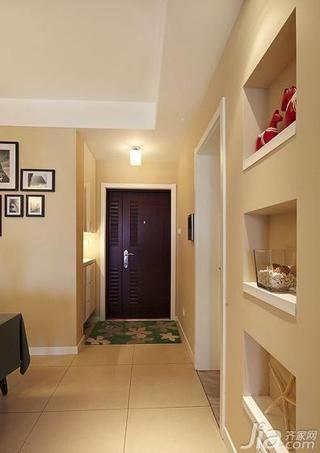 简约风格三居室130平米玄关鞋柜效果图