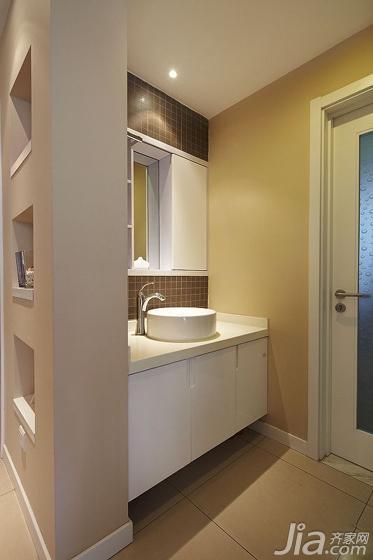 简约风格三居室130平米洗手台效果图
