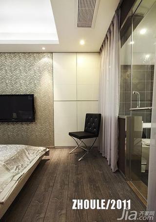 新古典风格复式140平米以上卧室地板图片
