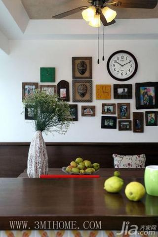 三米设计新中式风格照片墙装修效果图