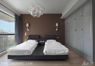 三米设计混搭风格大户型卧室卧室背景墙效果图