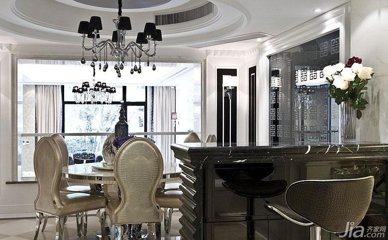新古典风格跃层140平米以上餐厅吧台装修效果图