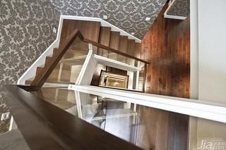 新古典风格跃层140平米以上楼梯地板图片