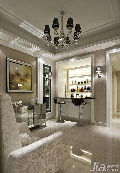 新古典风格跃层140平米以上地下室吧台装修效果图