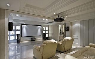 新古典风格跃层140平米以上影音室单人沙发效果图