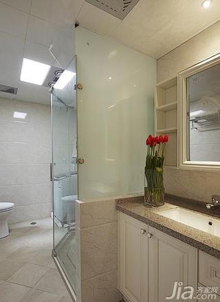 简欧风格二居室80平米卫生间吊顶洗手台效果图
