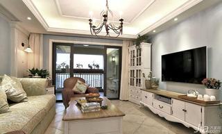 混搭风格复式140平米以上客厅电视背景墙客厅灯效果图