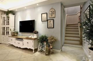 混搭风格复式140平米以上电视背景墙客厅灯效果图