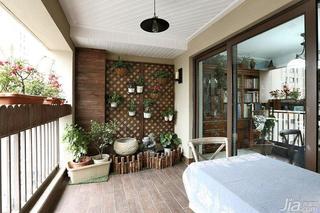 混搭风格复式140平米以上阳台吊顶地板效果图