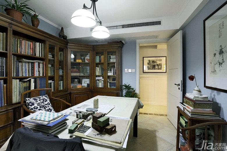 混搭风格复式140平米以上书房书柜效果图