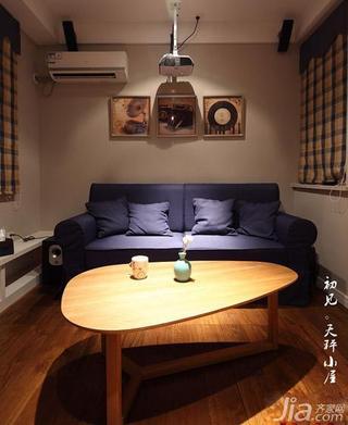混搭风格三居室120平米影音室沙发效果图