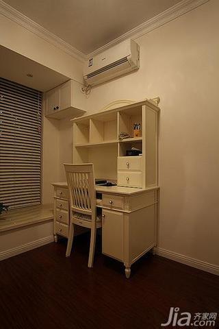混搭风格三居室80平米书房飘窗书桌效果图