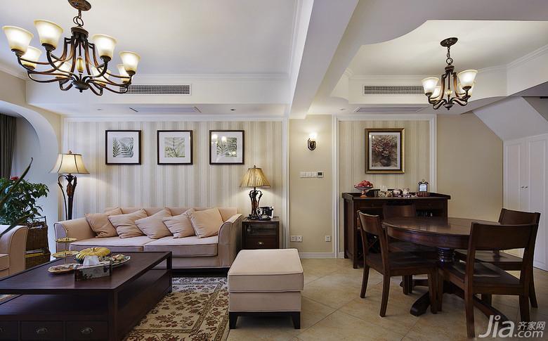 美式风格装修效果图客厅装饰效果图餐厅吊顶效果图沙发背景墙效果图图片