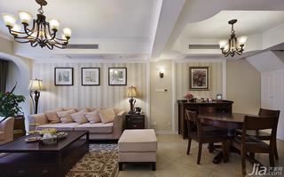 美式风格复式140平米以上客厅沙发背景墙客厅灯效果图