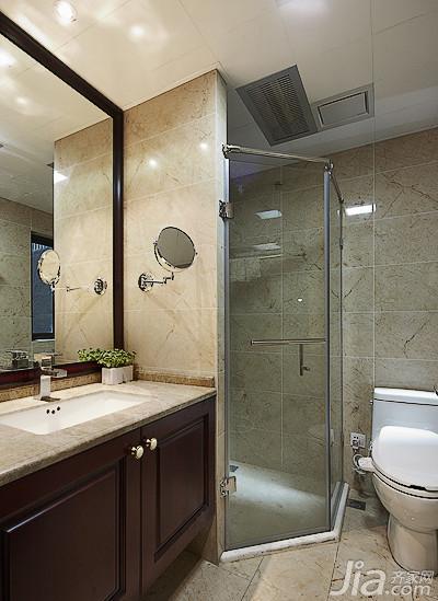 新古典风格三居室140平米以上卫生间洗手台效果图