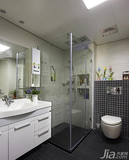 美式乡村风格三居室130平米卫生间吊顶淋浴房效果图高清图片