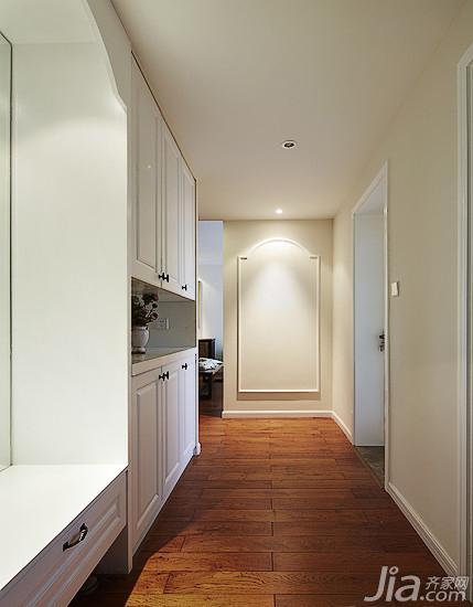 美式乡村风格三居室130平米玄关玄关柜效果图