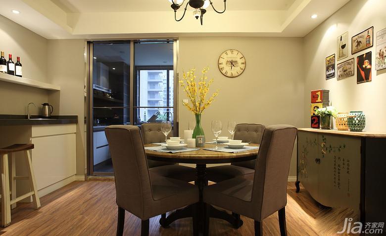 美式风格三居室富裕型餐厅照片墙餐边柜图片高清图片