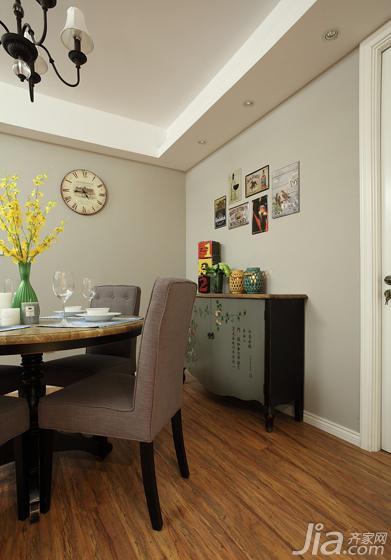 美式风格三居室富裕型餐厅背景墙餐边柜效果图高清图片