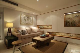 中式风格三居室70平米客厅客厅灯效果图