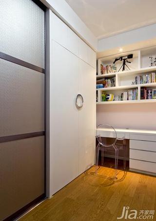 新古典风格三居室110平米书房隐形门图片