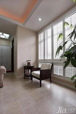美式风格别墅140平米以上阳台窗户效果图