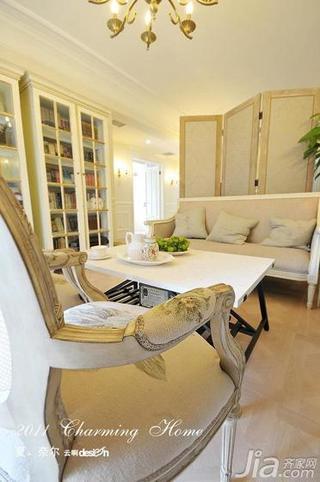 欧式风格公寓130平米隔断书柜效果图