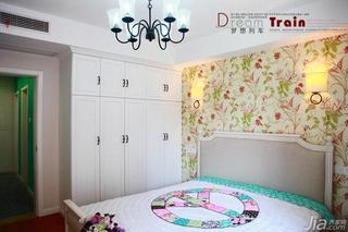 田园风格三居室80平米卧室儿童灯效果图