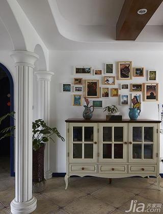 地中海风格四房140平米以上照片墙餐边柜效果图