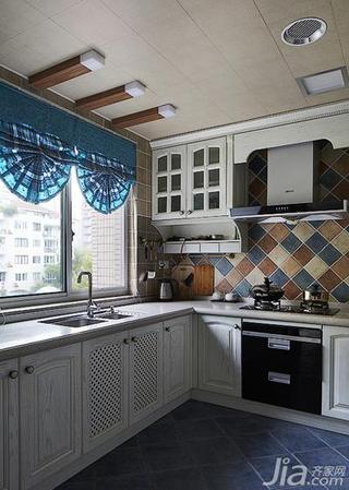 地中海风格四房140平米以上厨房吊顶橱柜效果图