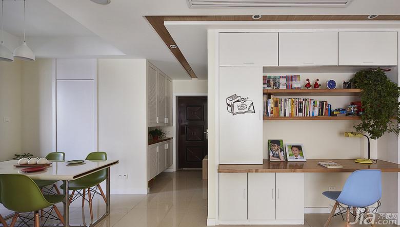 客厅开放式书房效果图 -装修效果图案例 2017年装修效果图 齐家网装图片