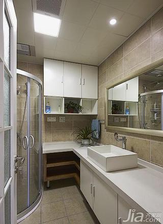 简约风格二居室15-20万卫生间吊顶洗手台效果图