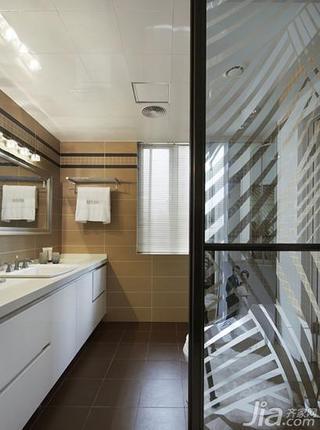现代简约风格四房140平米以上卫生间吊顶洗手台图片